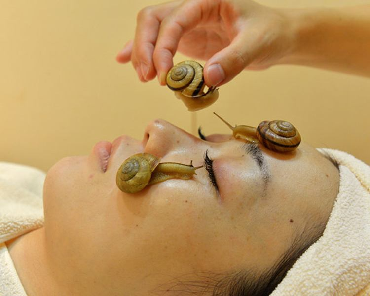 Strange Spa Treatments Snails