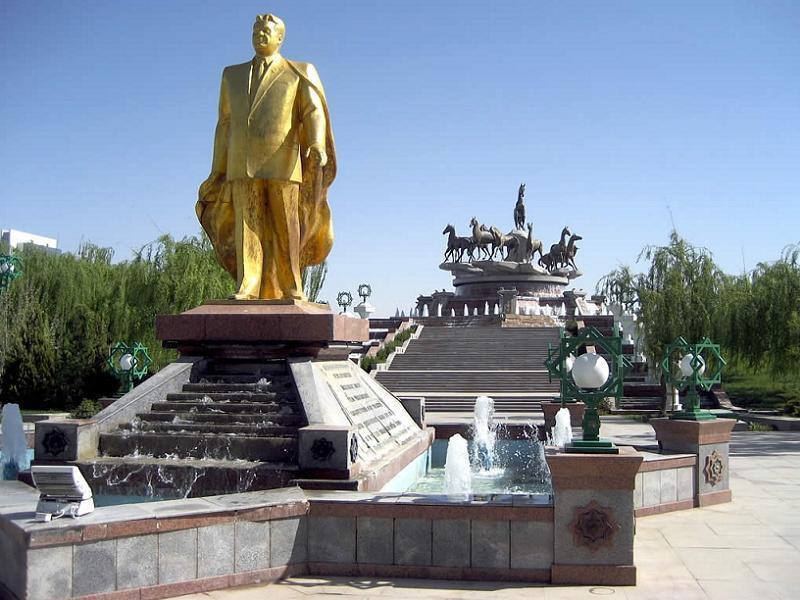 Turkmenistan Ashgabat Statue