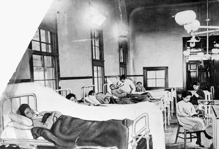 Typhoid Mary In A Hospital Bed