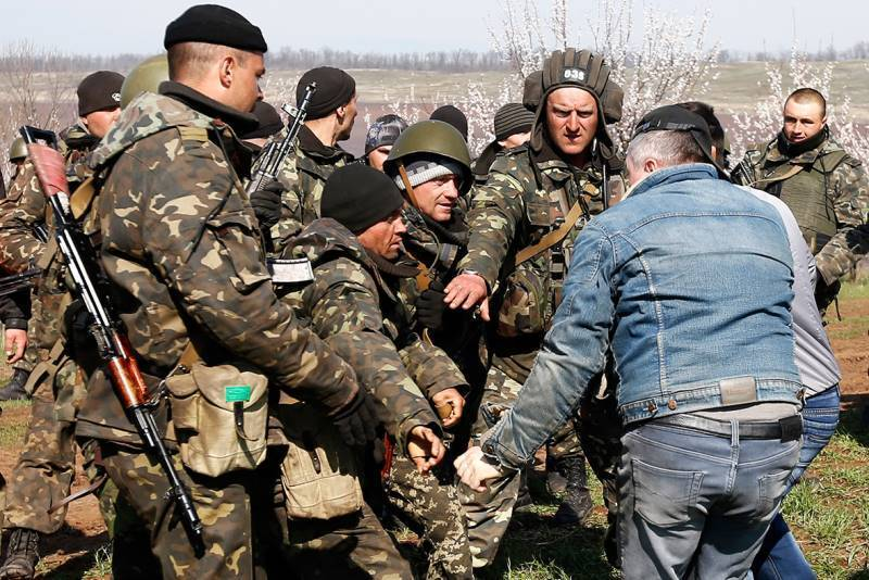 Ukrainian Soldiers Clash With Pro-Russian Protesters.