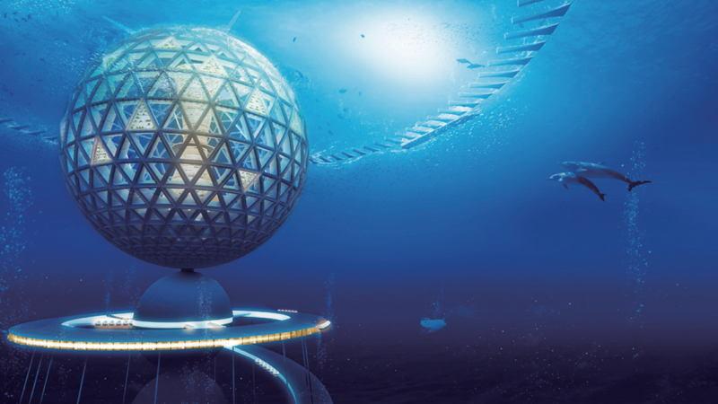Underwater City Orb