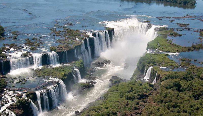 Aerial Shot of Iguacu National Park