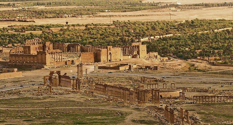Aerial View of Site of Palmyra