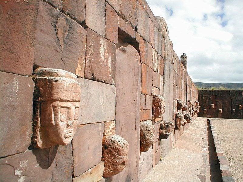 Stone Wall at Tiwanaku
