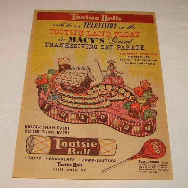 1954 Thanksgiving Tootsie Roll Ad