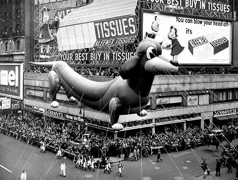 Dog Balloon Float in Thanksgiving Parade
