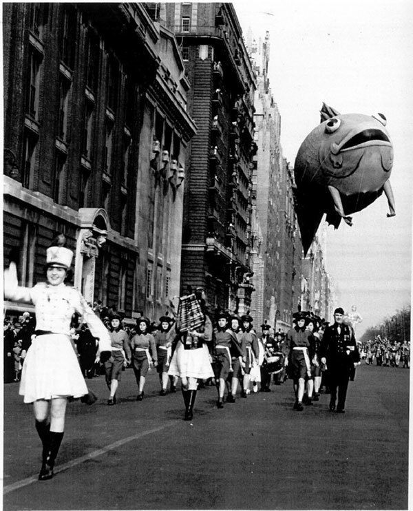 Vintage Fish Float in Macy's Parade