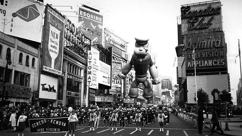 Popeye at Thanksgiving Parade