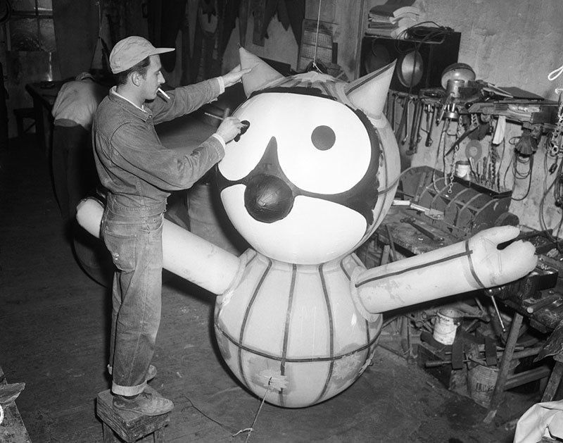 Tony Sarg Working on Felix the Cat