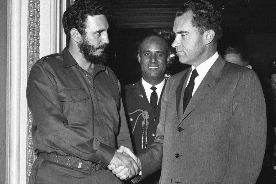 Fidel Castro Photos Meeting Richard Nixon