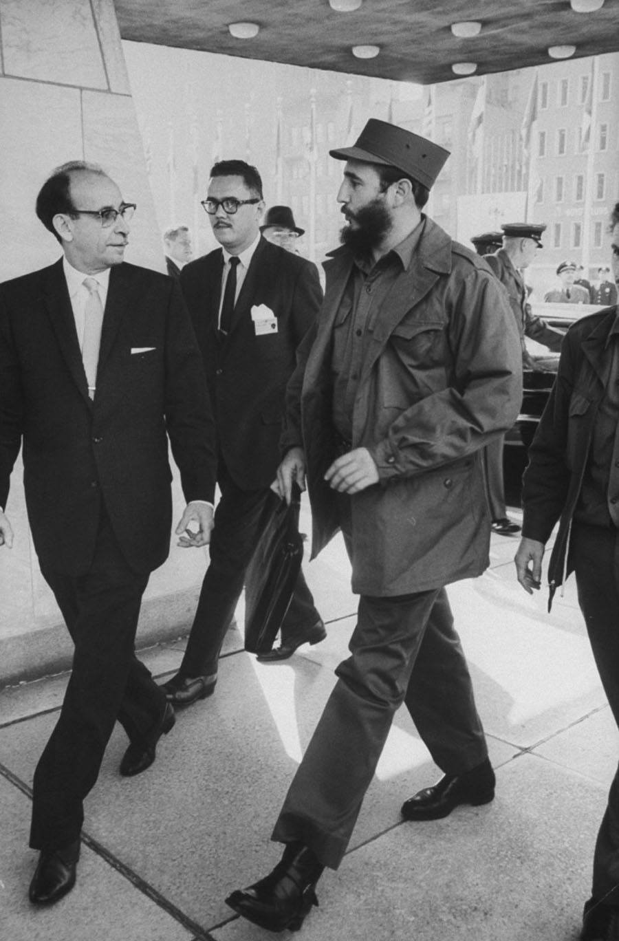 Fidel Castro At The United Nations In 1959