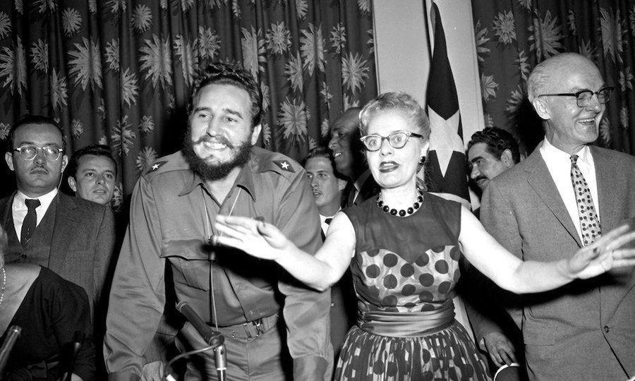 Fidel Castro And Grayson Kirk