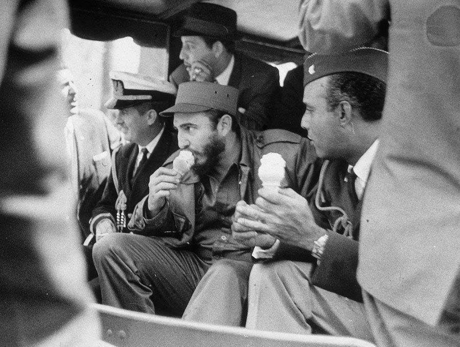 Fidel Castro Photos Eating Ice Cream