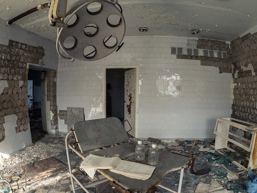 Abandoned Chernobyl Doctor Room