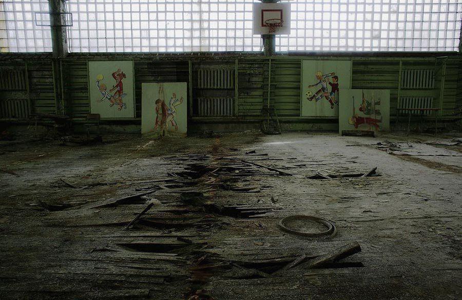 Abandoned Chernobyl Gym Floor