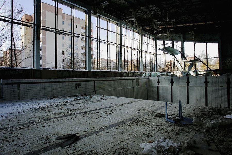 Abandoned Chernobyl Pool Far