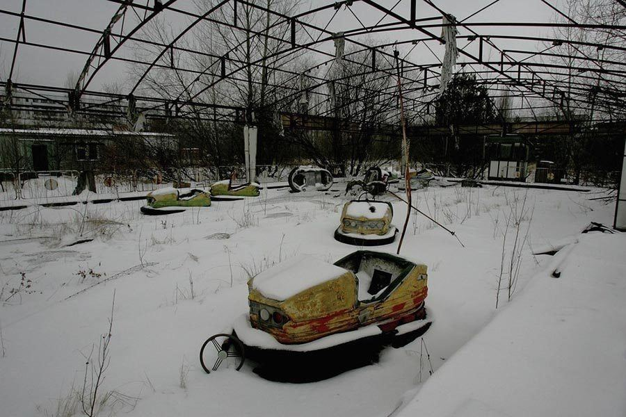 Abandoned Chernobyl Race Car