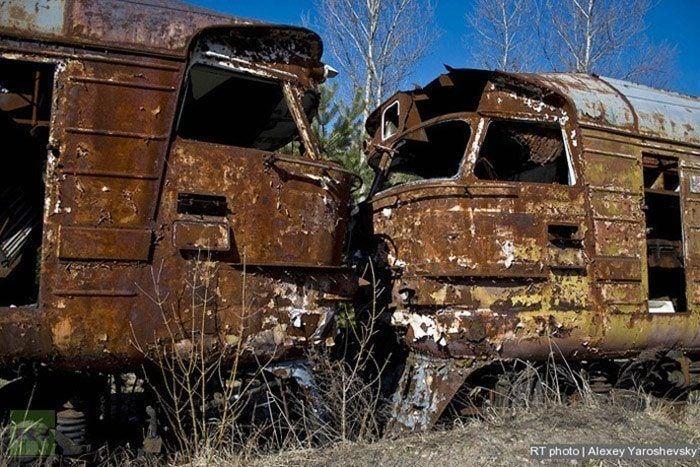 Abandoned Chernobyl Rail Cars