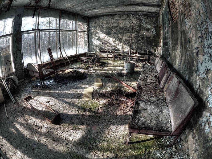 Abandoned Chernobyl Seating Room