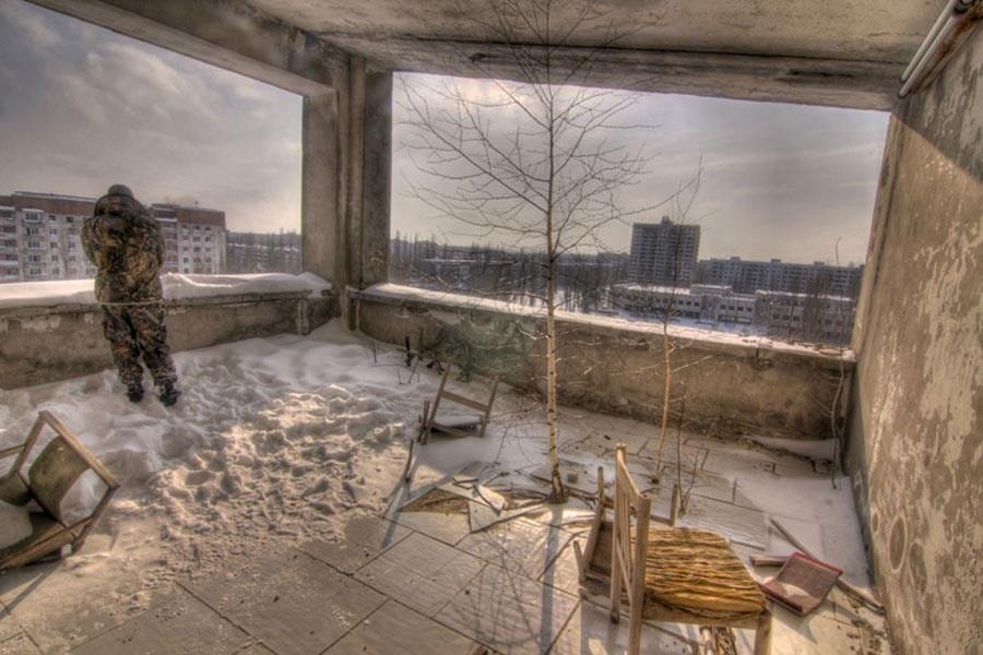 Abandoned Chernobyl Snow
