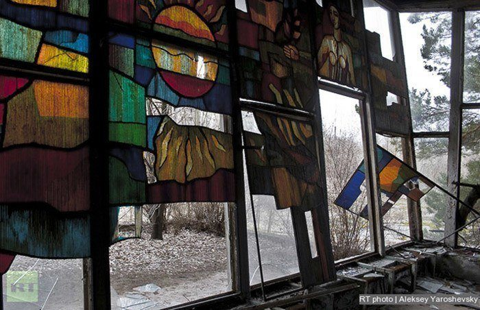 Abandoned Chernobyl Stained Glass