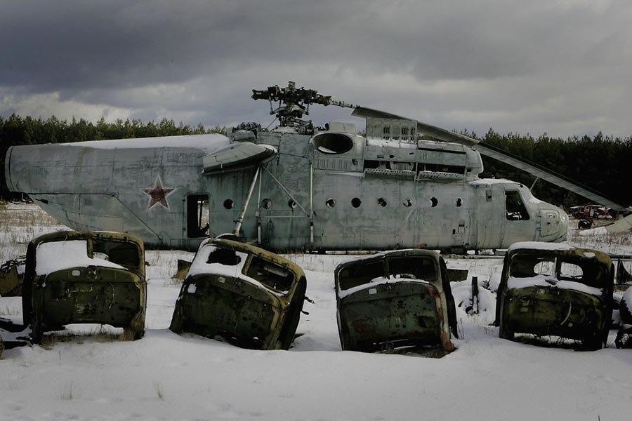 Abandoned Chernobyl Trucks