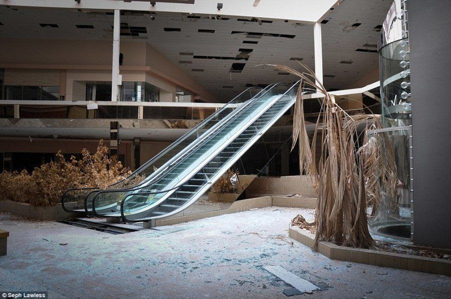 Ceiling Of An Empty Mall