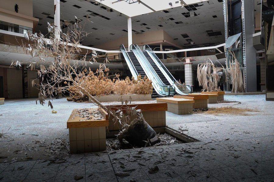 Crumbling Mall Lobby