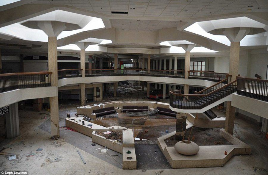 Center Of An Abandoned Mall