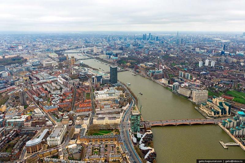 Aerial London Thames