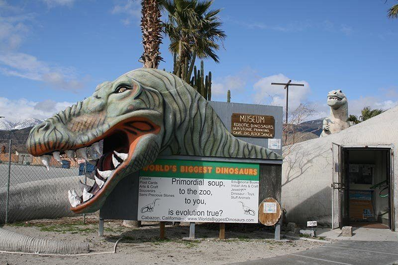 American Kitsch Cabazon Dinosaurs Entrance