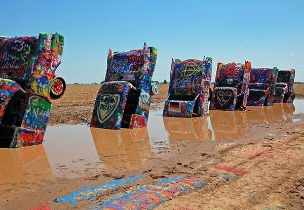 American Kitsch Cadillac Ranch Muddy