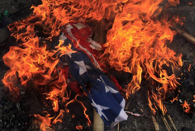 Anti-American Countries Burning Flag