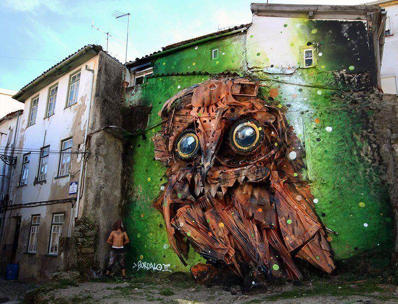 Best Street Art of 2014 Bordalo II