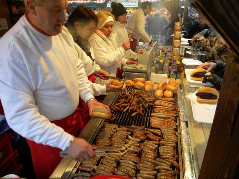 Christmas In Nuremberg Sausages