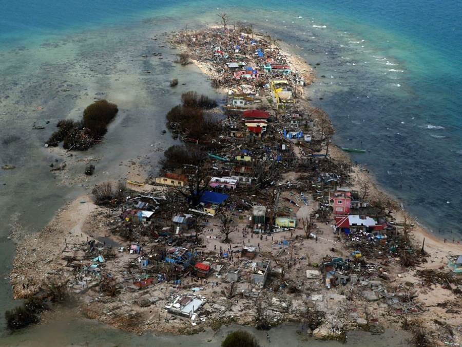 Climate Migrants Typhoon Haiyan Destruction
