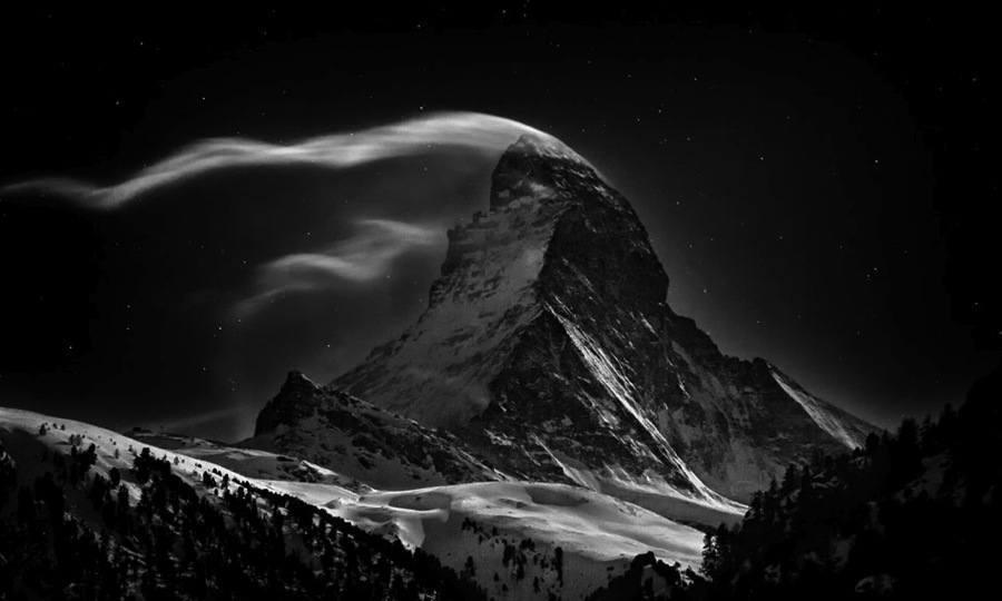 European Natural Wonders Matterhorn Night