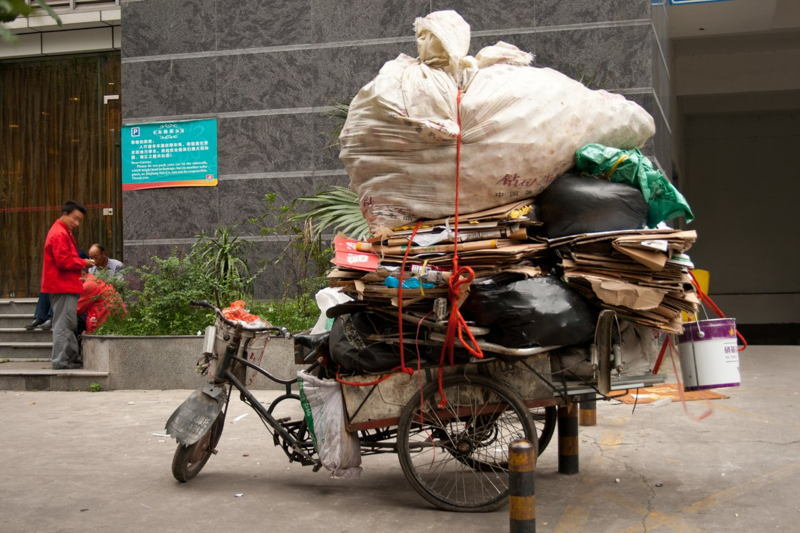 Global Poverty China Trash Bike
