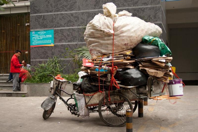 Global Poverty China Trash Bike