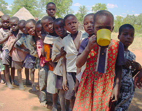 Global Poverty Zimbabwe Kids