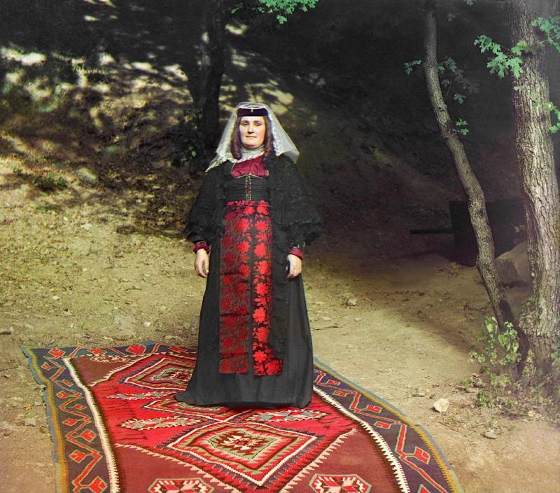 Russia In Color Georgian Woman