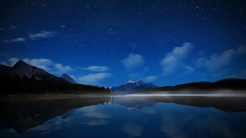 Lake Maligne at Night