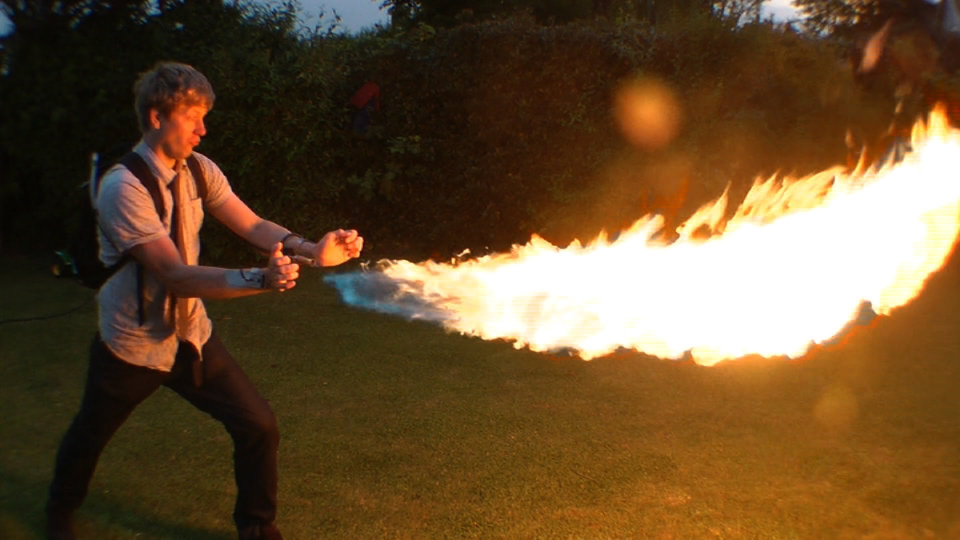 Как сделать человек огня