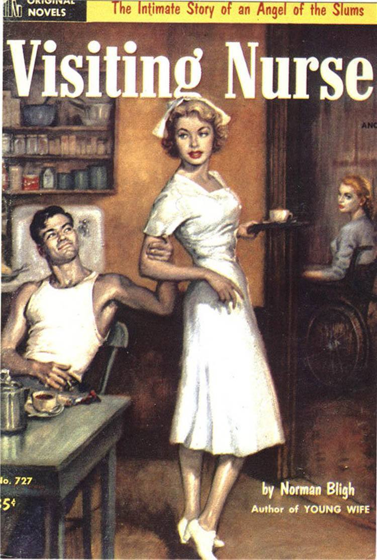 1985: Another reproduction of a 1953 novel showing a home nurse having to fight off unwanted advances.
