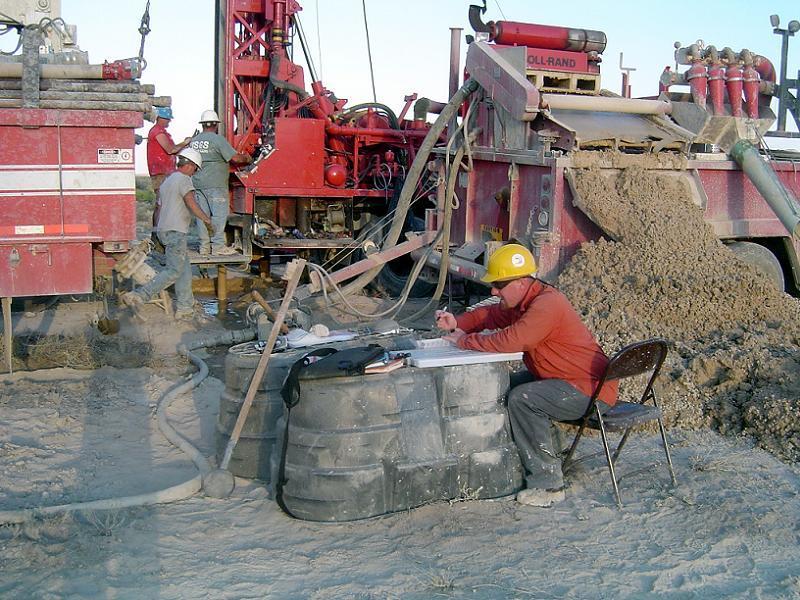 Geologist Sitting