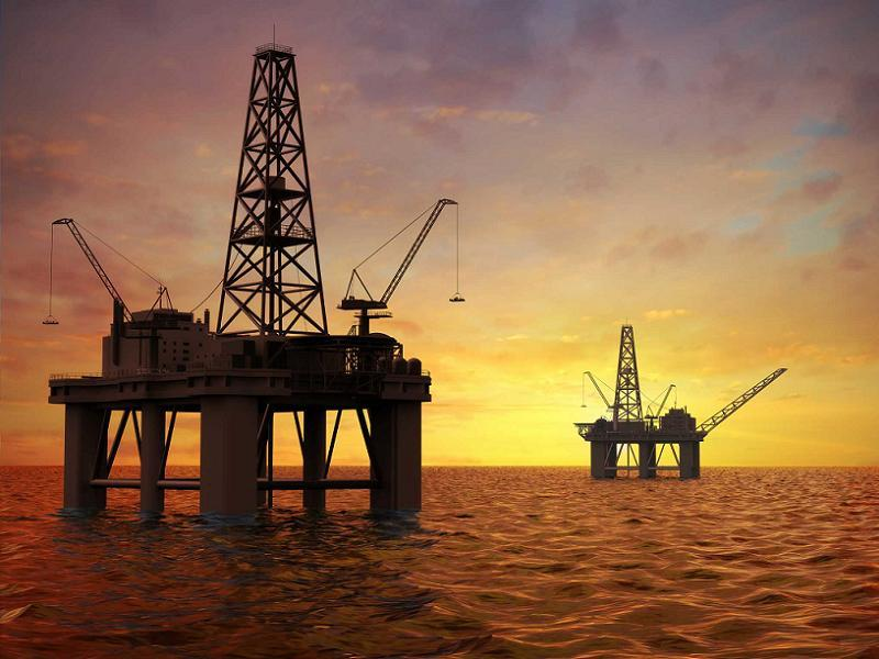 Oil Production Business Offshore Texas