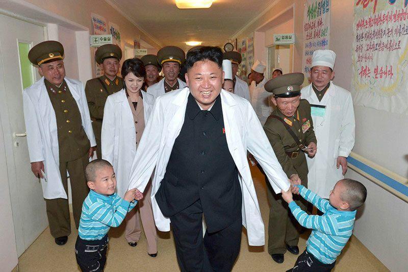 Kim Jong Un Plays with Kids