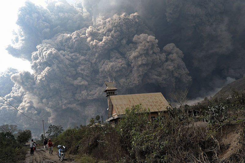 Mount Sinabung Erupts 2014