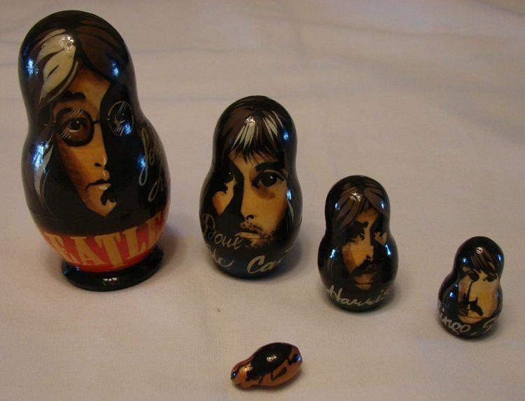 Pop Culture Russian Dolls Beatles