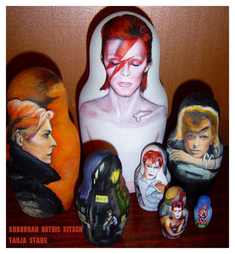 Pop Culture Russian Dolls Bowie